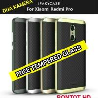 PAKET IPAKY ORIGINAL + TEMPERED GLASS HP XIAOMI REDMI PRO (DUA KAMERA)