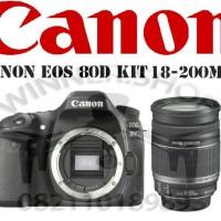 kamera canon EOS 80D kit 18-200 (GARANSI RESMI CANON DATASCRIP)
