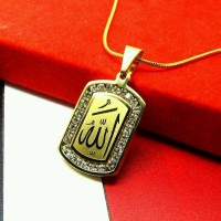 Harga kalung liontin allah emas permata pendant god gold pria | Pembandingharga.com
