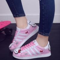 SEpatu Wanita Cats Hello Kitty Model Trend RF30 Pink