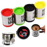 Jual Gelas mug self stirring aduk Otomatis Stainless steel Coffee Magic T Murah