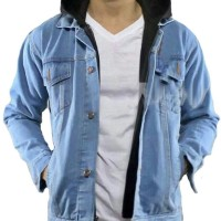 Jual Jaket Ariel Denim Hoodie Blue Light - Best Seller Murah