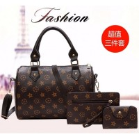 TAS KOREA HAND BAG 3 IN 1 MURAH PAKET WANITA IMPORT FASHION