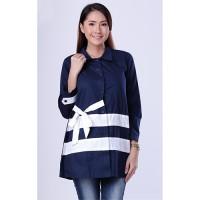 Harga baju atasan wanita navy garsel 100 fwn | Pembandingharga.com