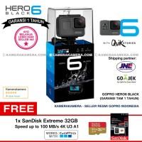 GoPro Hero6 Black (Resmi) 4K Zoom WiFi + SanDisk Extreme 32gb/100Mb