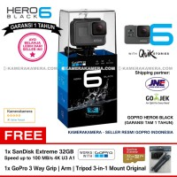 GoPro Hero6 Black (Resmi) + SanDisk Extreme 32gb + GoPro 3Way Original