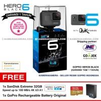 GoPro Hero6 Black (Resmi) + SanDisk Extreme 32gb + GoPro Battery Ori