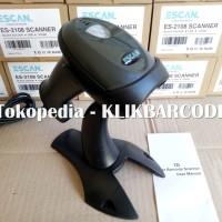 Jual BARCODE SCANNER ESCAN 2108 1D LASER ( USB - STAND - HARGA PROMO ) Murah
