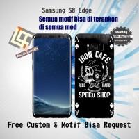 Garskin HP Samsung S8 Edge motif skull black- motif bisa request