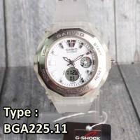 Casio Baby-G Putih White Transparant Jelly BGA225 . Jam tangan Wanita