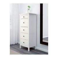 IKEA HEMNES Lemari 5 Laci - Warna putih