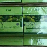 Jual BSY NONI BLACK HAIR MAGIC (HITAM) 3 LOGO/BPOM Murah