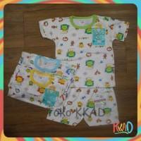 pakaian/baju bayi setelan pendek oblong libby size S, M, L