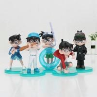 Action Figure / Mainan Miniatur Topper Detective Conan isi 5 Kaito Kit
