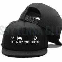 SNAPBACK HAT EAT SLEEP VAPE REPEAT ~ IMBONG