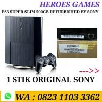 PS3 SUPER SLIM 500GB OFW FULL GAMES REFURBISHED BY SONY
