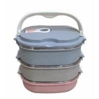 Jual Dinemate Eco Lunch Box Stainless Steel Rantang Oval 3 Susun Murah