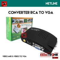 Converter RCA/AV/Video to VGA + Adaptor BNC S-Video Conversion