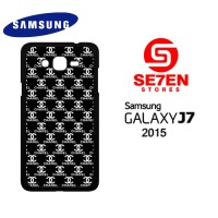 Casing HP Samsung J7 2015 black white channel Custom Hardcase