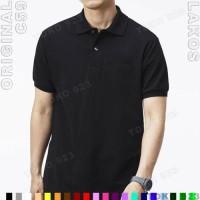 K1-11 Kaos Kerah Polo Shirt Cowok Polos C59 Original Lakos Hitam