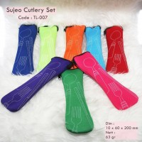 Jual Peralatan Makan Travel Set (Sendok, Garpu, Sumpit) Sujeo Cutlery Set Murah