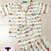 Piyama Baju Tidur Anak Laki Cowok Katun Mobil (2-7thn)