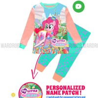 Jual Stelan Piyama Baju Tidur Anak Teen Size JW 11 D Little Pony Name Patch Murah