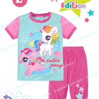 Jual Stelan Piyama Pendek Baju Anak Teen Size SGW 12 L My Little Pony Murah