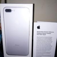 iphone 7+ 128 gb silver garansi resmi ibox