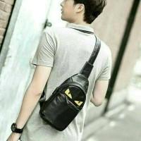 Jual Tas slempang kulit / sling bag pria wanita / Import premium quality Murah