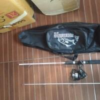 terbatas paket mancing lengkap reel oregon spool besi dan joran full