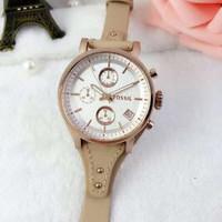 TERBARU jam tangan wanita merk FOSSIL DE CUERO ROSEGOLD  ORI BM Type F