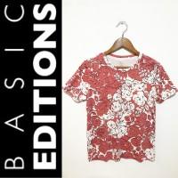 BASIC EDITIONS rose print blouse