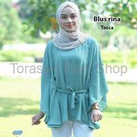 Harga special atasan muslim polos tal baju wanita blus rina tosca | Pembandingharga.com