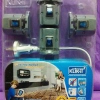 Jual Klik-It Kabel 5 mtr + Switch 2 bh Diskon Murah