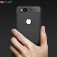 For Pixel 2 Case Carbon Fiber Design Soft TPU Back Phone Cases - BLACK