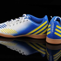 Sepatu Futsal Anak Original Adidas Predito LZ IN Biru Blue