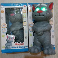 Jual MAINAN KUCING TOMCAT MATA NYALA MAGICAL SINGING CAT NO.LX7311 Murah