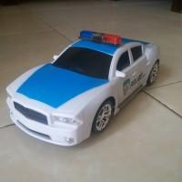 Mainan anak Mobil-mobilan Sedan Polisi bisa bersuara dan bergerak