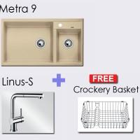 Paket BLANCO METRA 9 Granite composite sink in + Linus-S