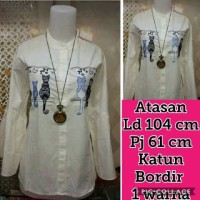 BT10818 Whitr Double Miaw Tunik