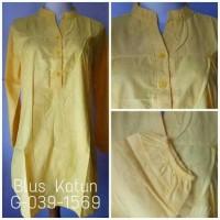 Bigsize/Jumbo XXL - Atasan Wanita Blus Katun Polos G-039-1569 Kuning