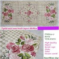 Taplak Meja Tamu Bordir / Minimalis / Shabby / Verania Soft Pink