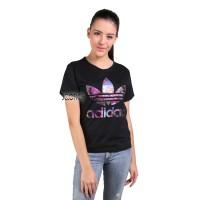 Kaos Wanita / Tumblr Tee Lengan Pendek Adidas Galaxy - Hitam