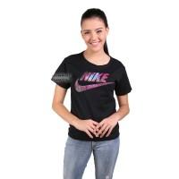 Kaos Wanita / Tumblr Tee Lengan Pendek Nike Galaxy - Hitam