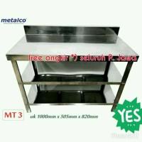 Meja Stainless Stell Merk Metalco 3 Rak