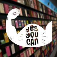Stiker Motivasi You Can Gym Sport Dinding Kaca Kamar Tembok Sticker 2