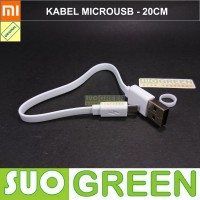 [ORIGINAL] KABEL MICROUSB PENDEK XIAOMI 20 CM for POWERBANK n CHARGER