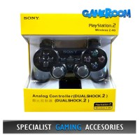 Stik Stick PS2 Wireless Controller Ori Pabrik Gamepad Receiver Hitam