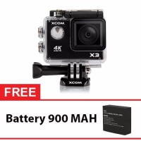 Jual Onix XCOM X3 Action Camera 4K HD 16MP HITAM Carton Box battery 900 m Murah